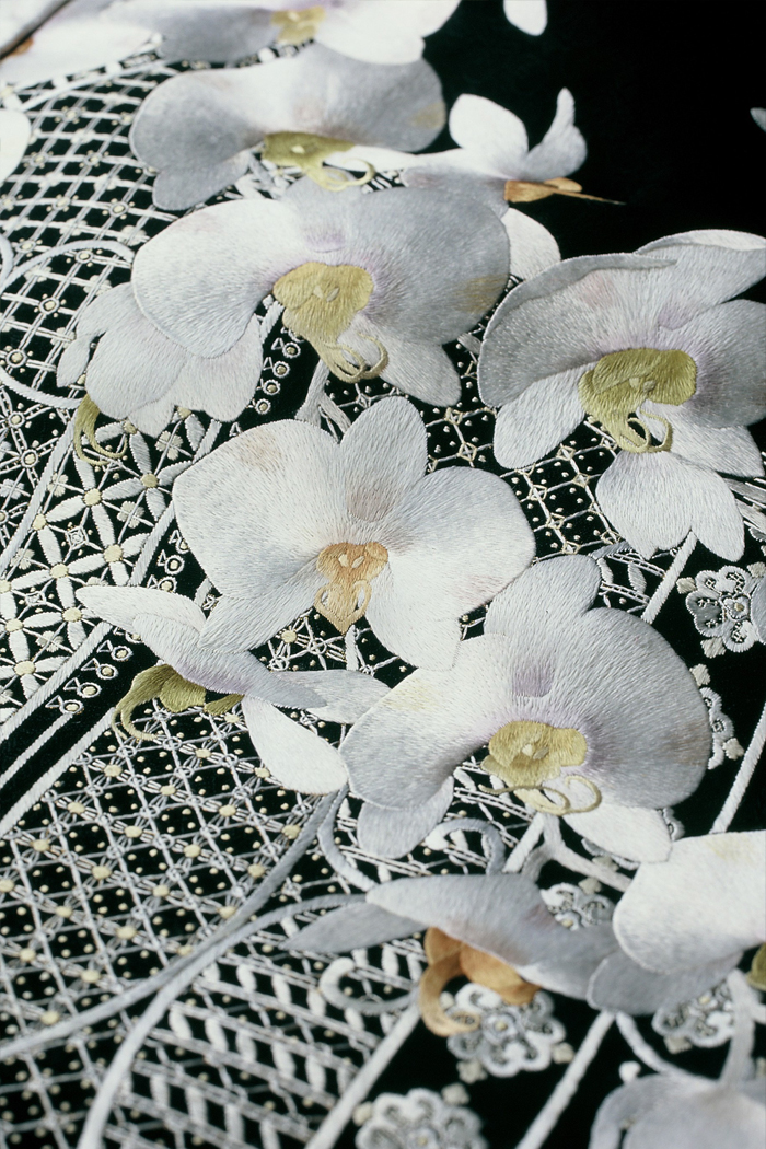 胡蝶蘭 蘇州刺繍