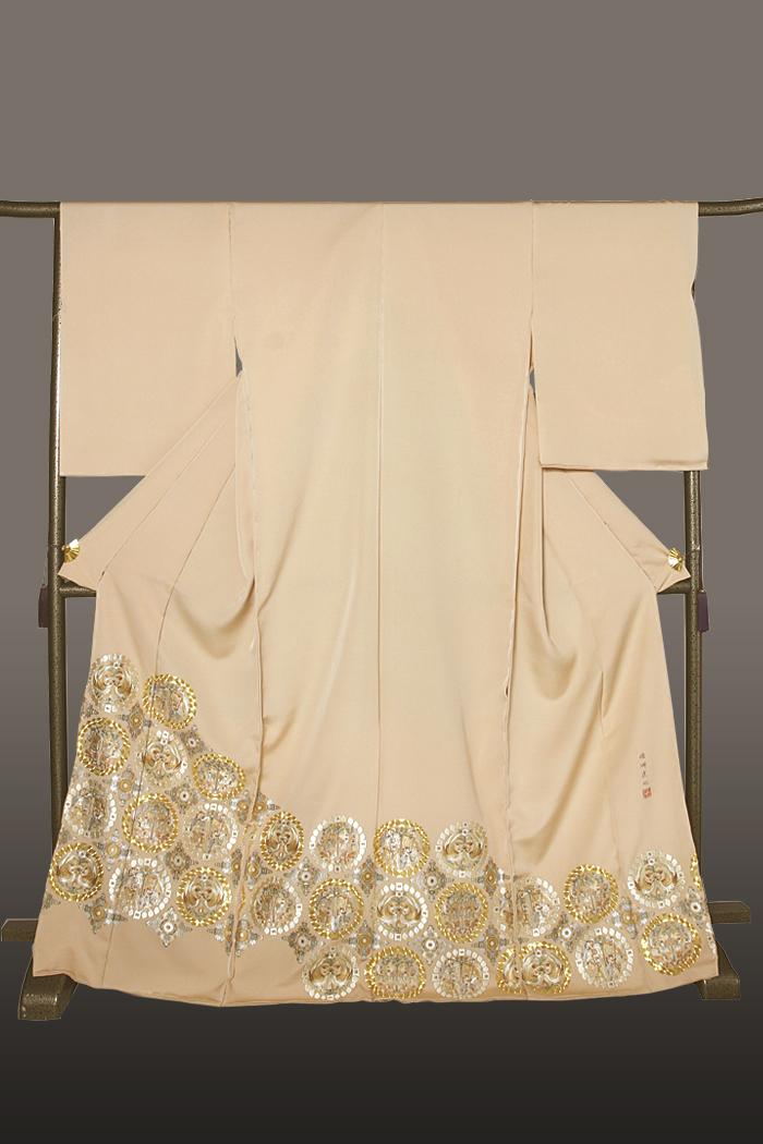 色留袖 正倉院 蘇州刺繍