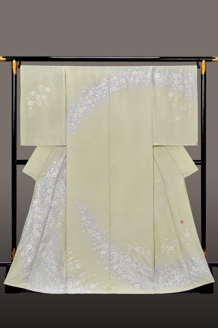 訪問着 桜 蘇州刺繍